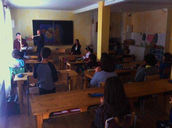 Action culturelle à l'école Steiner